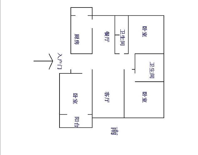 双馨苑 3室2厅 7楼