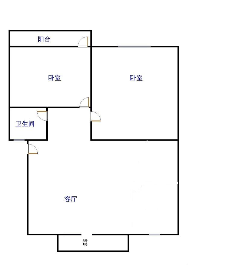 金卉小区 2室2厅 双证齐全 简装 63万