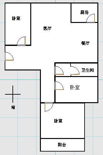 金地华城 3室2厅 双证齐全 简装 138万