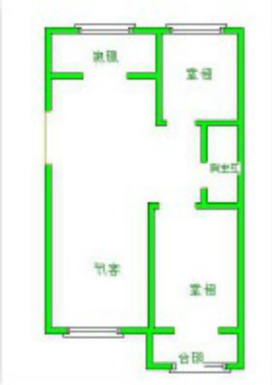 蓝水湾小区 2室2厅 双证齐全 精装 110万