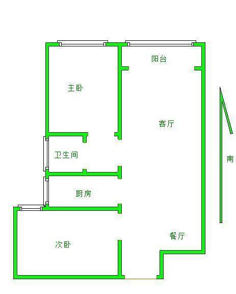 鲁班御景国际 2室2厅 双证齐全 简装 90万
