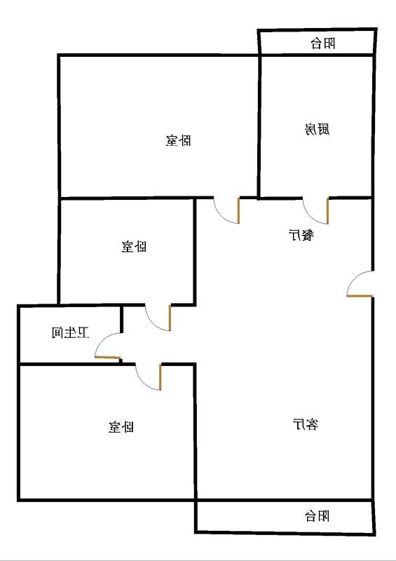 唐人中心 3室2厅 21楼