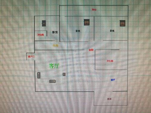 华腾家园 3室2厅 双证齐全 简装 115万