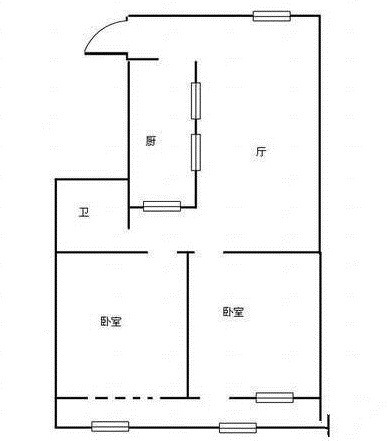 馨园小区 2室2厅 双证齐全 简装 68万