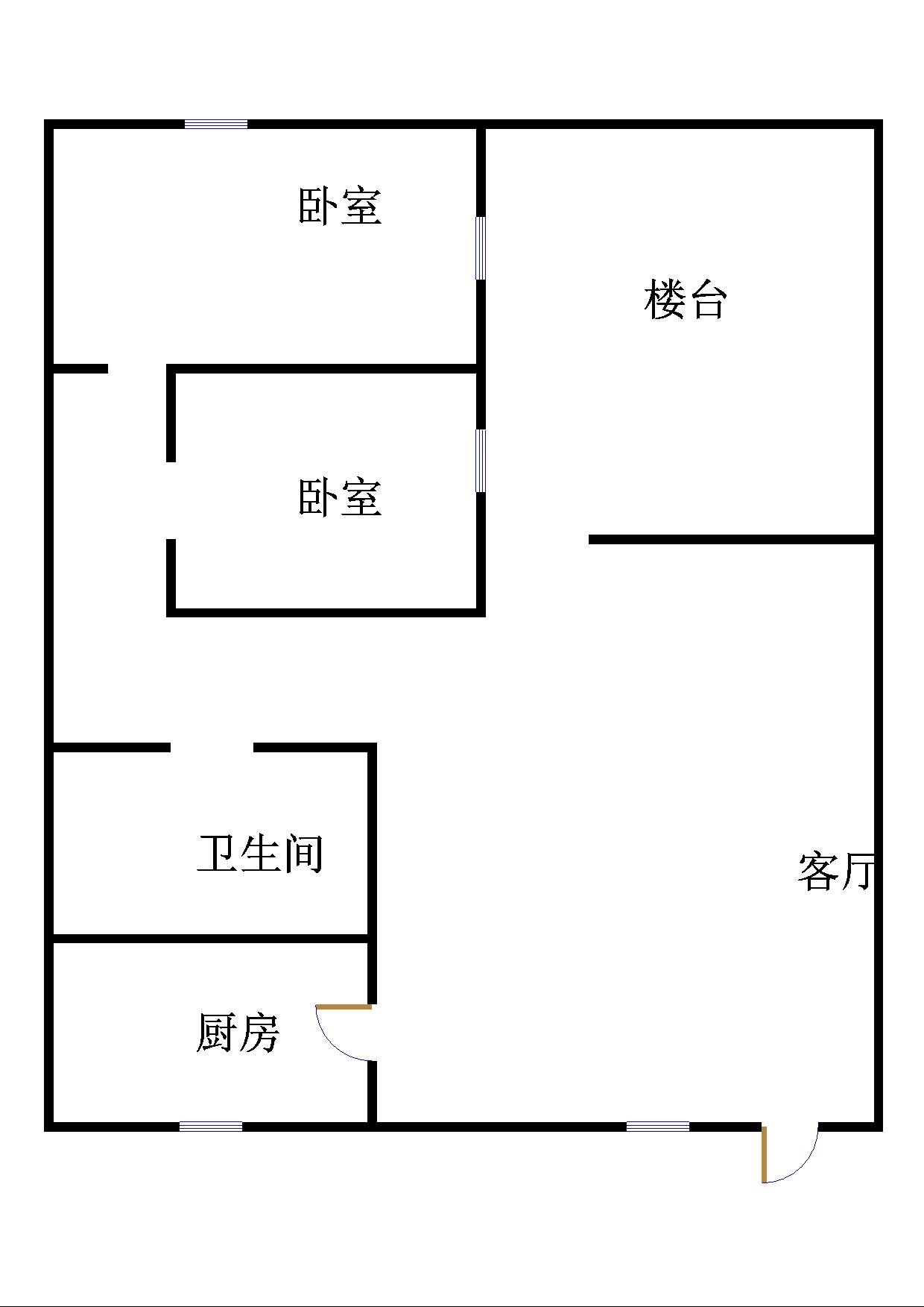 商贸城 2室1厅 3楼