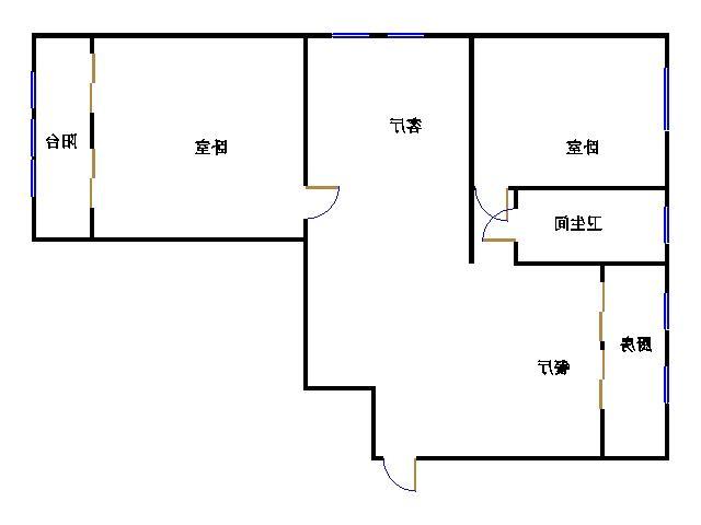 巴塞小镇 2室2厅 11楼