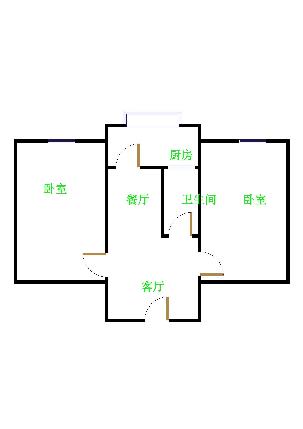 北园小区 2室1厅  简装 36万