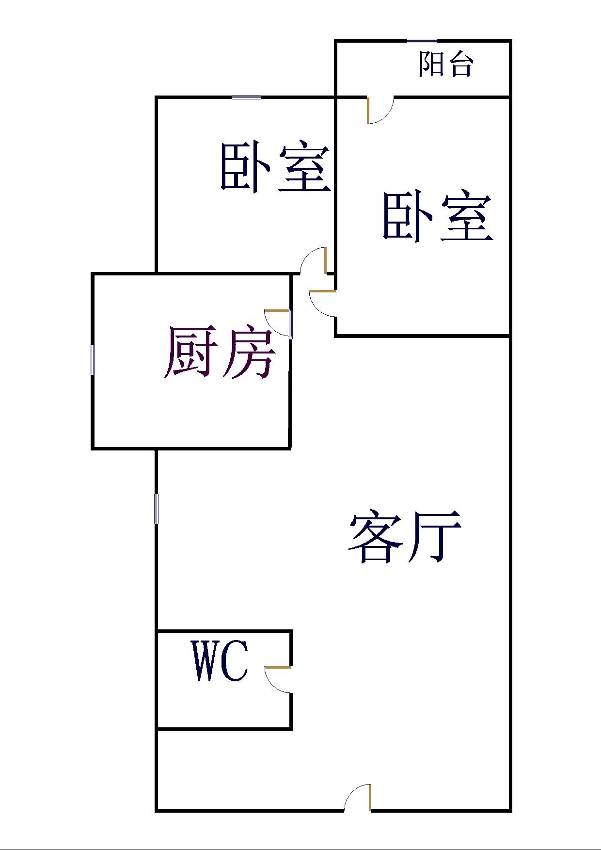 晶峰宿舍 2室2厅 4楼