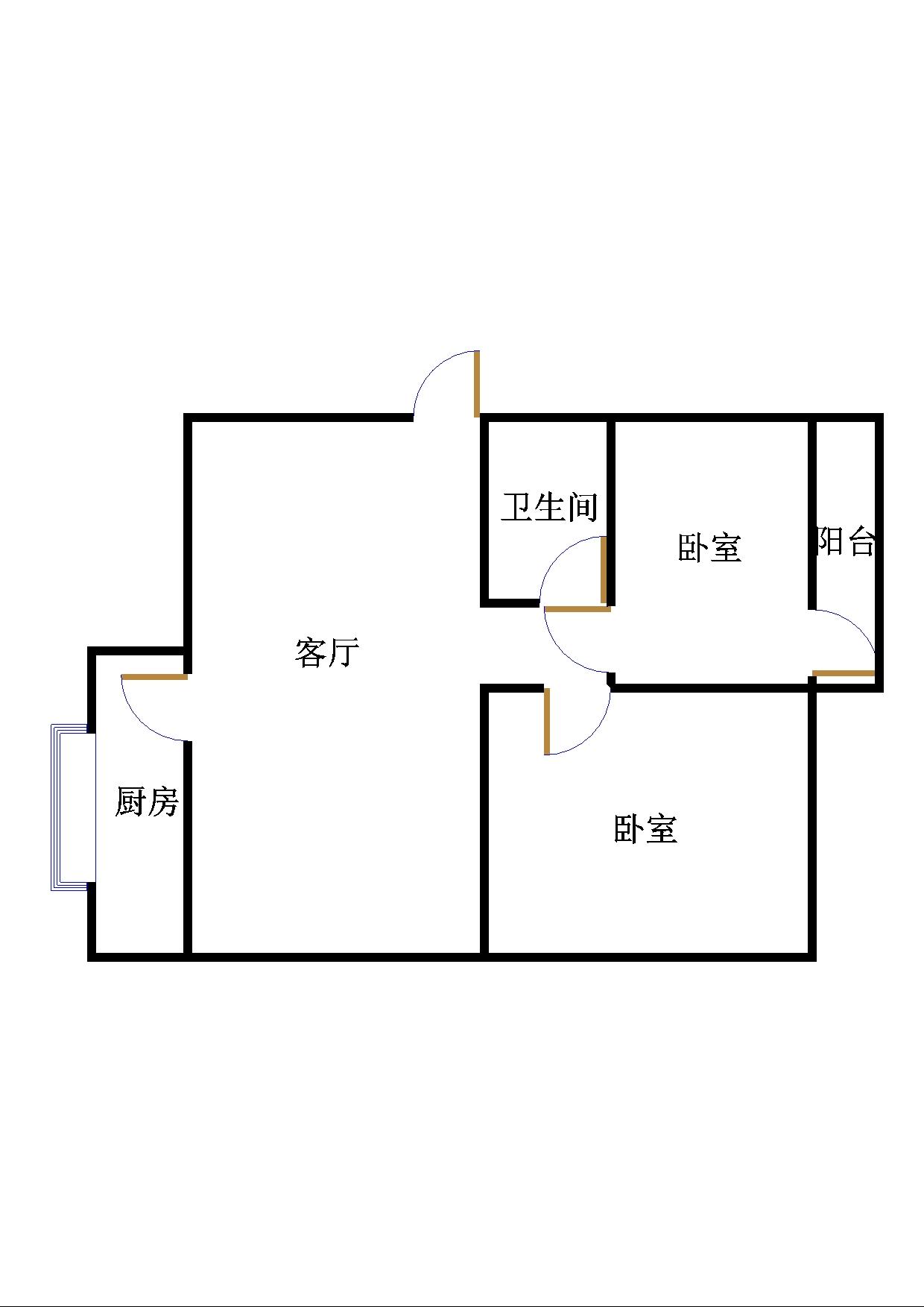 金谷园小区 2室1厅 5楼
