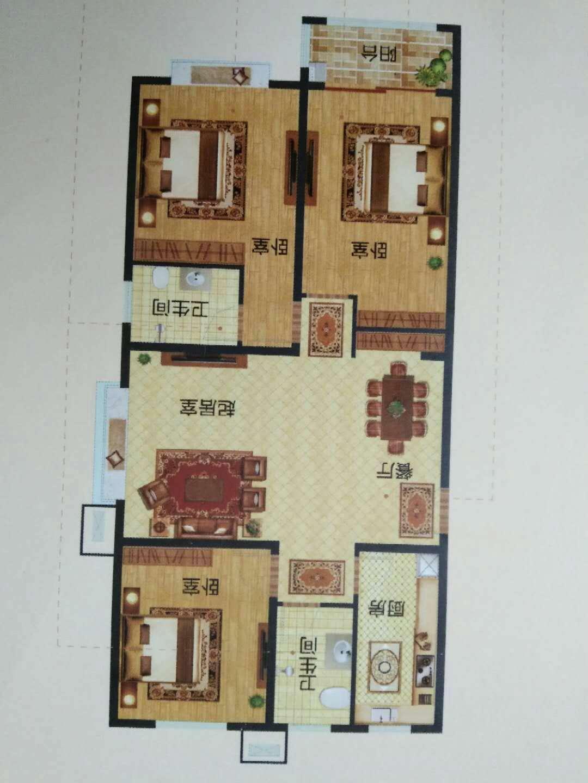 龙城国际 3室2厅  精装 130万