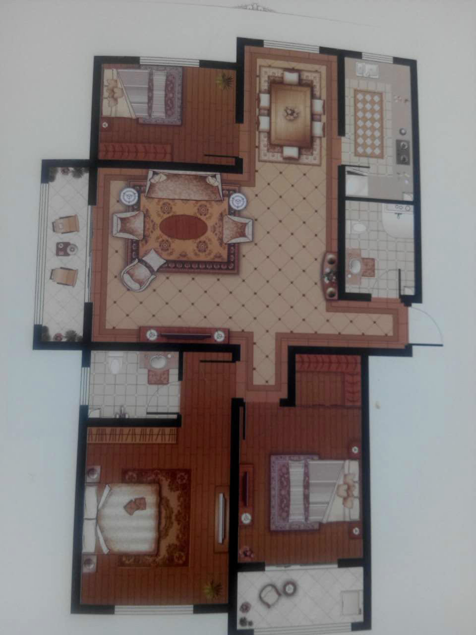 东海香港城 3室2厅 双证齐全 毛坯 150万
