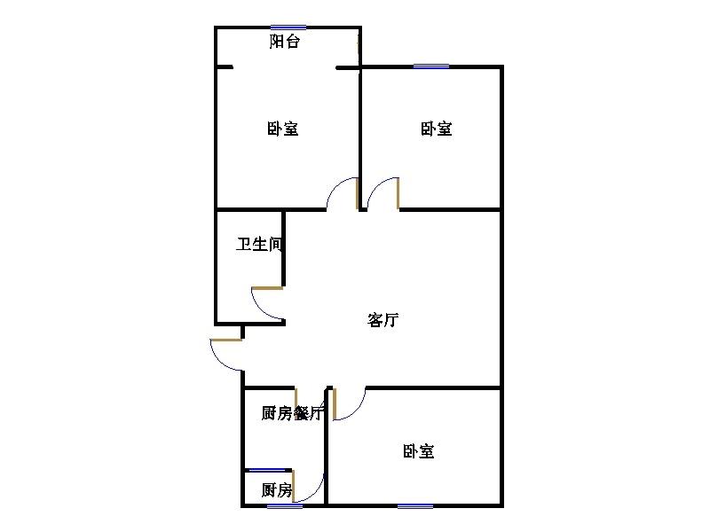 建兴小区南 3室2厅 2楼