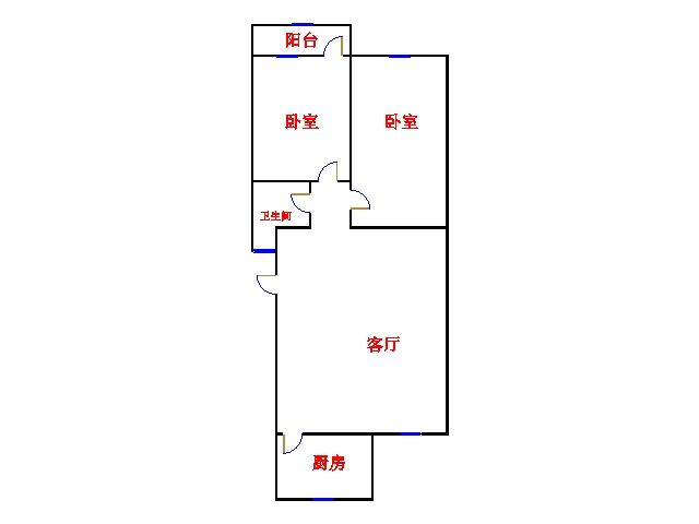 北苑新邸 2室2厅 6楼