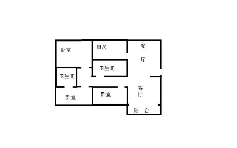 嘉和居 3室2厅  简装 130万