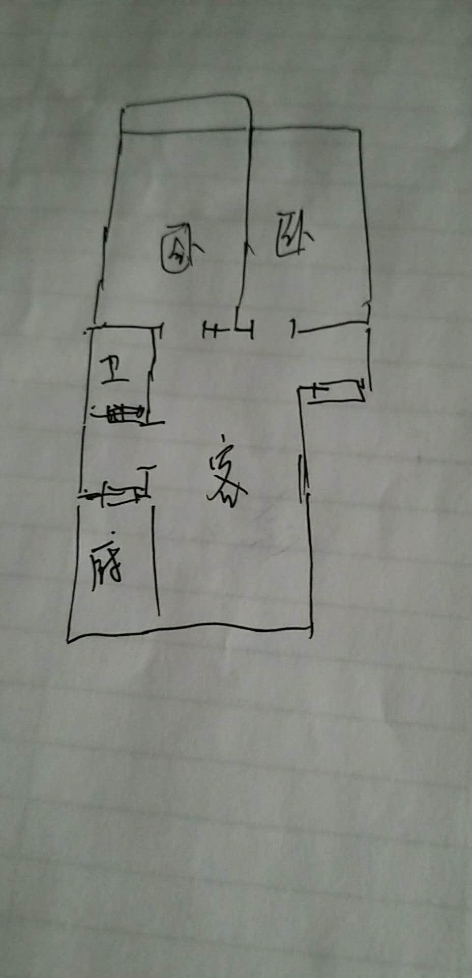 兆日花园 2室1厅 双证齐全 简装 72万