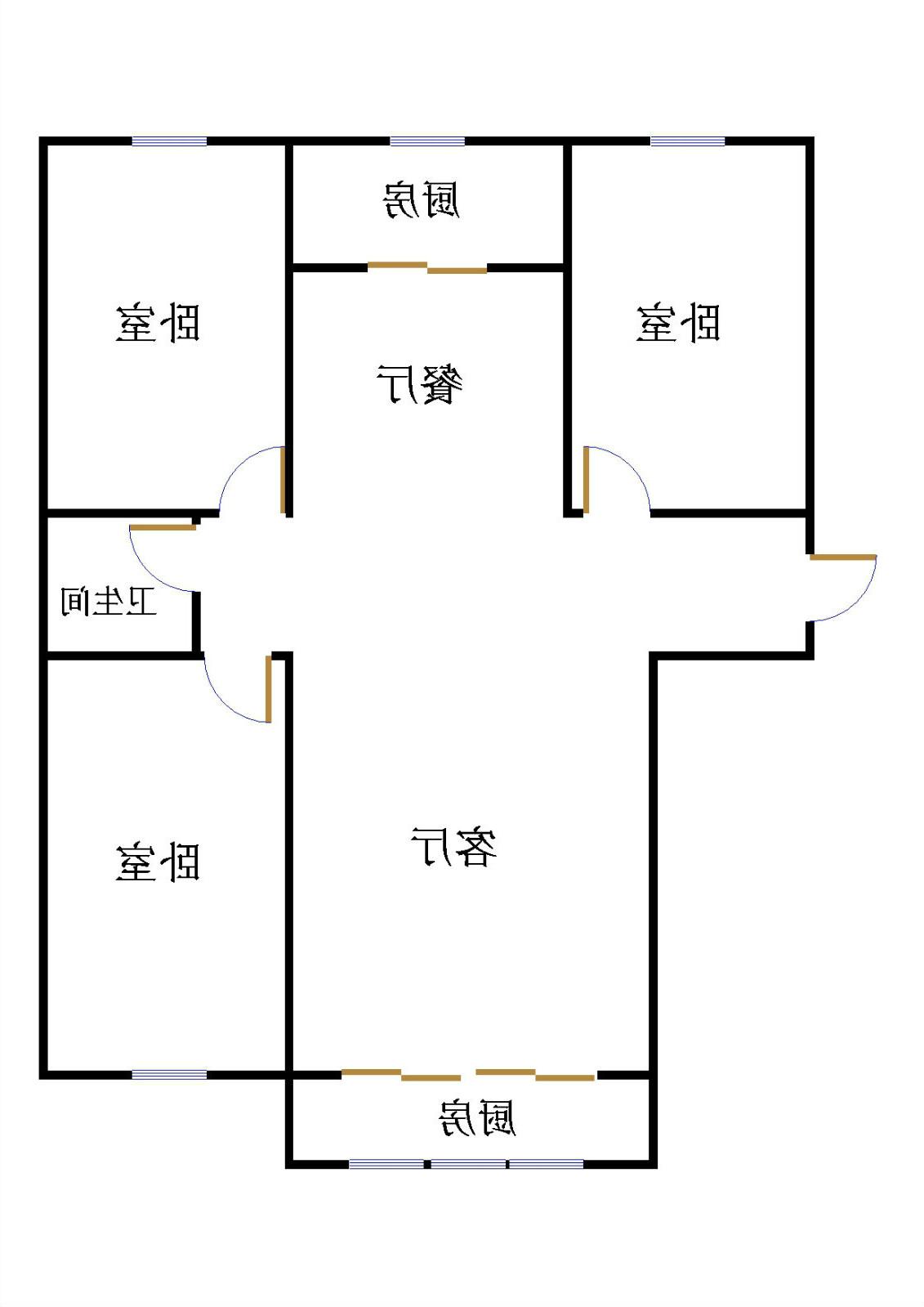 嘉城盛世 3室2厅 双证齐全 简装 135万