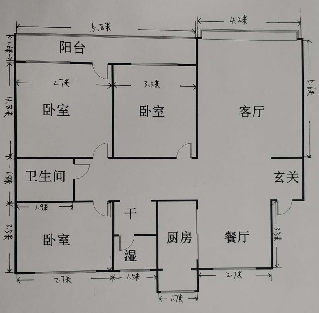 长青小区 3室2厅 过五年 简装 198万