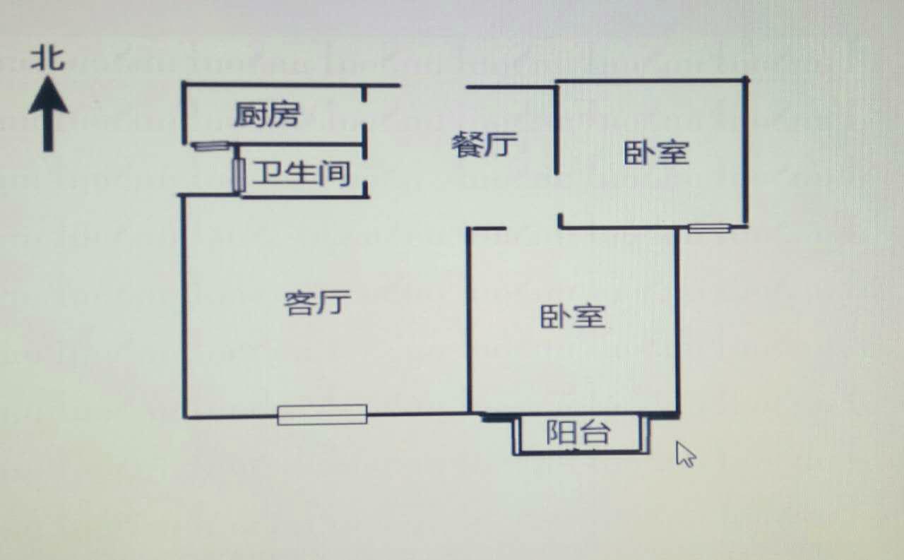 湖滨家园 2室1厅 双证齐全 简装 82.5万