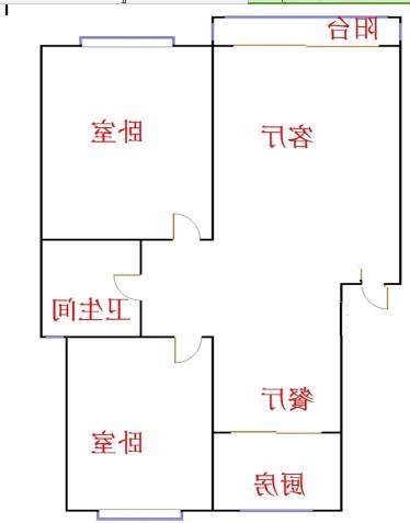 嘉诚尚东 2室2厅 双证齐全 简装 53万
