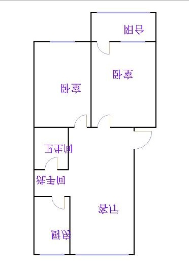 天华小区 2室2厅  简装 68万