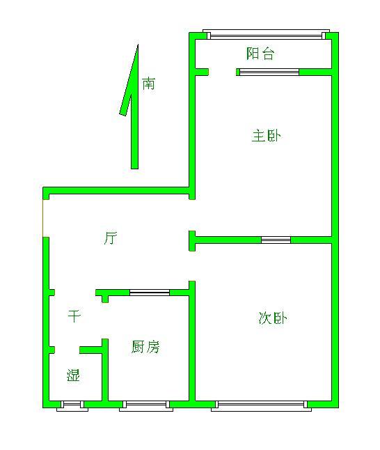 国棉厂宿舍 2室1厅 双证齐全过五年 简装 20万