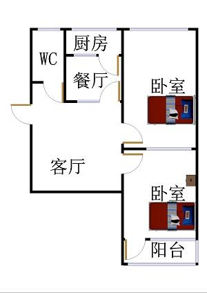 刨花板厂宿舍 2室1厅 双证齐全 简装 35万