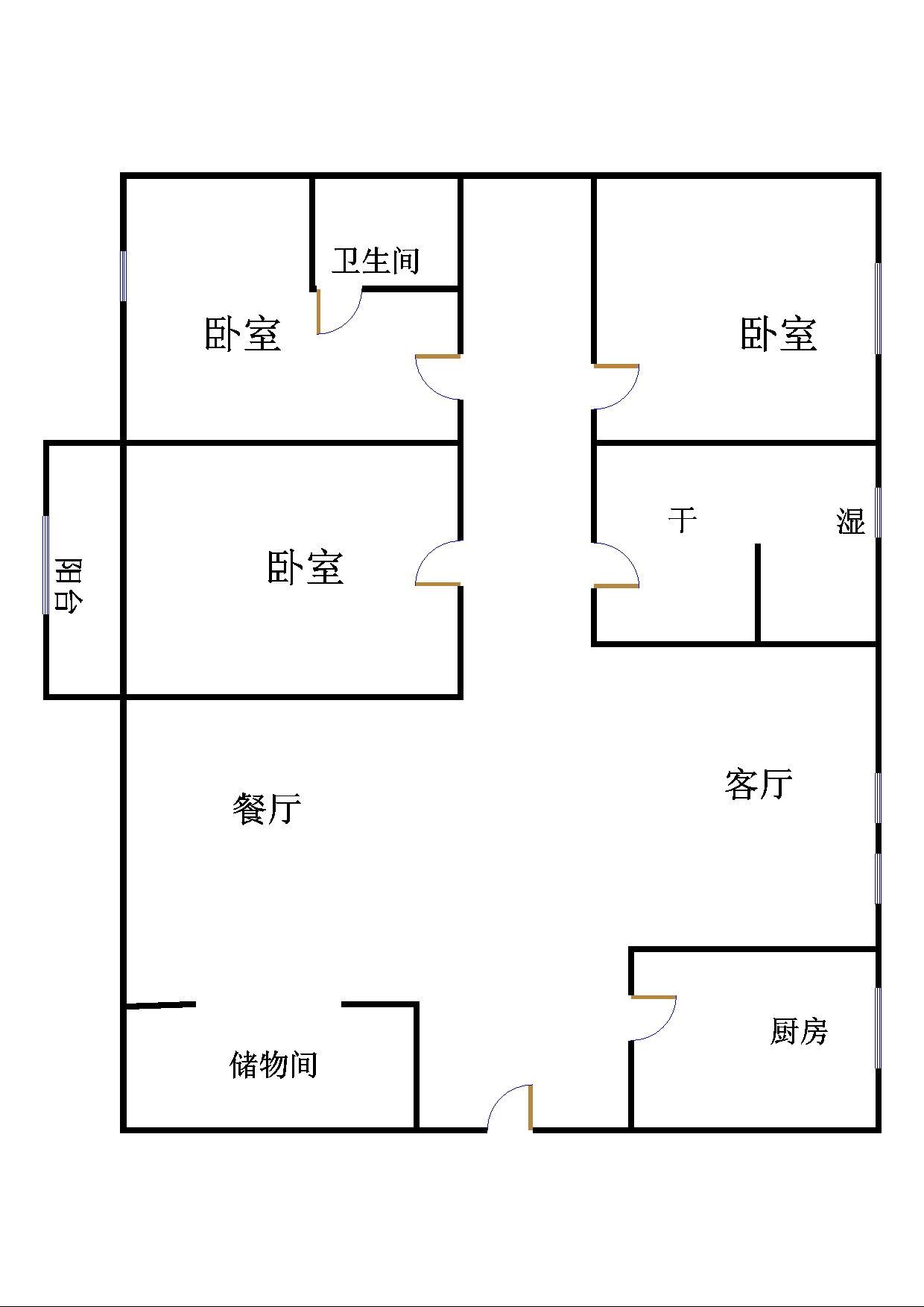 嘉城盛世 3室2厅  精装 128万