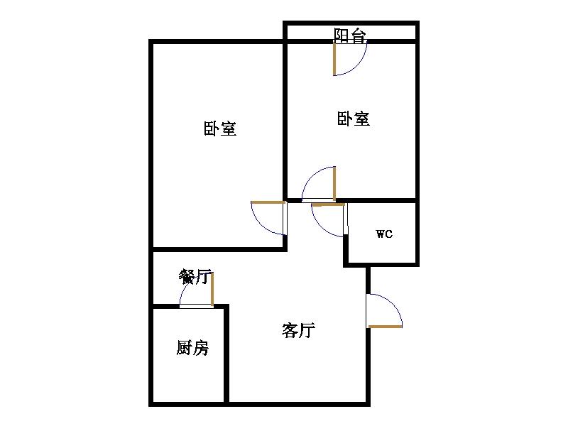 西长新村 2室2厅  精装 38万