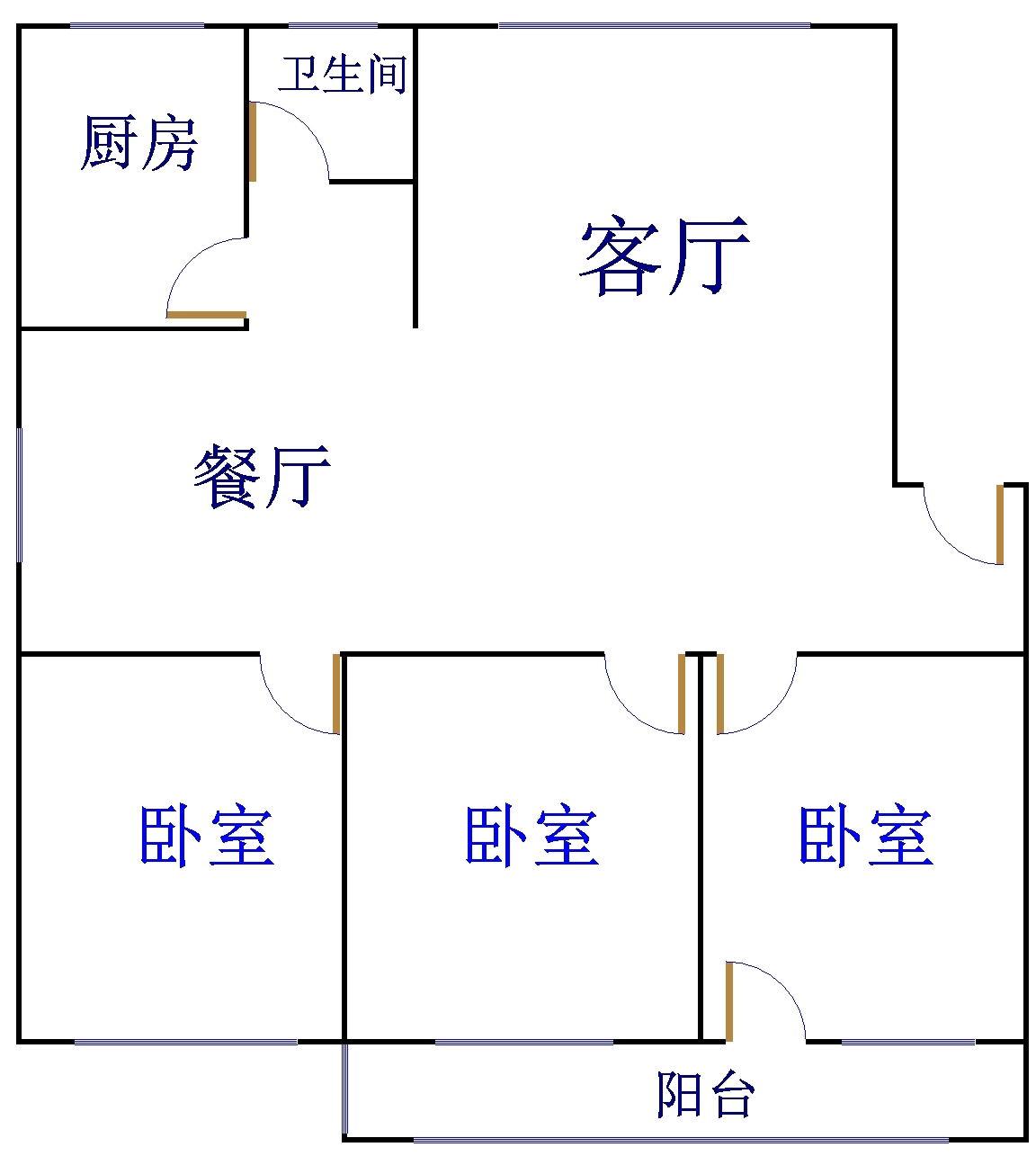 农科所宿舍 3室2厅 双证齐全 简装 188万