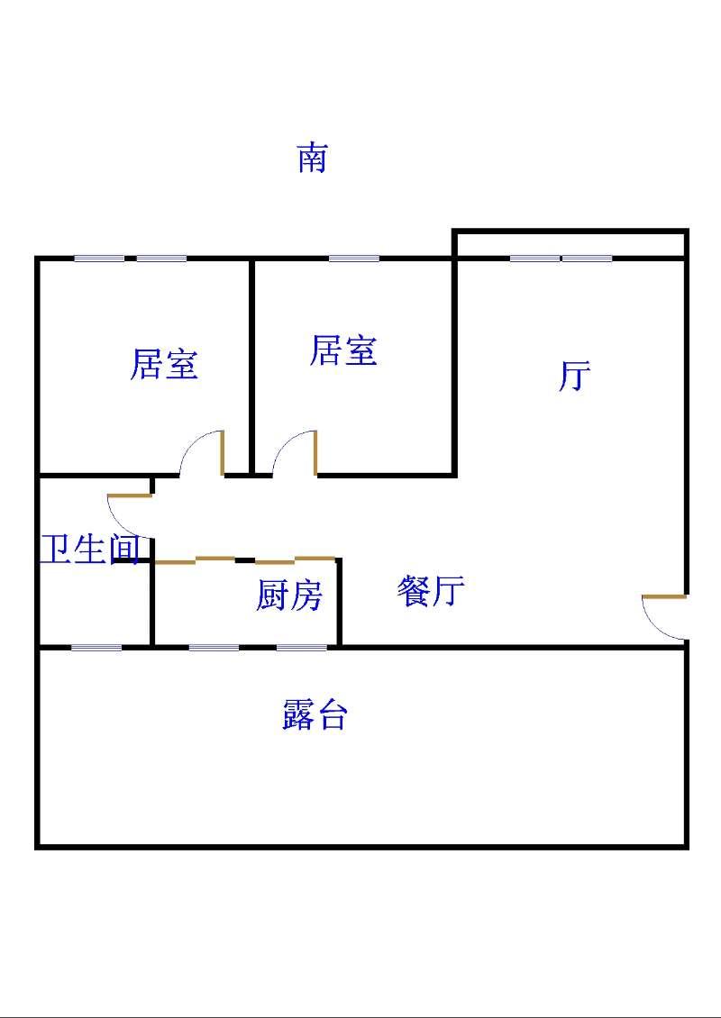 名苑小区 2室1厅 双证齐全过五年 简装 70万