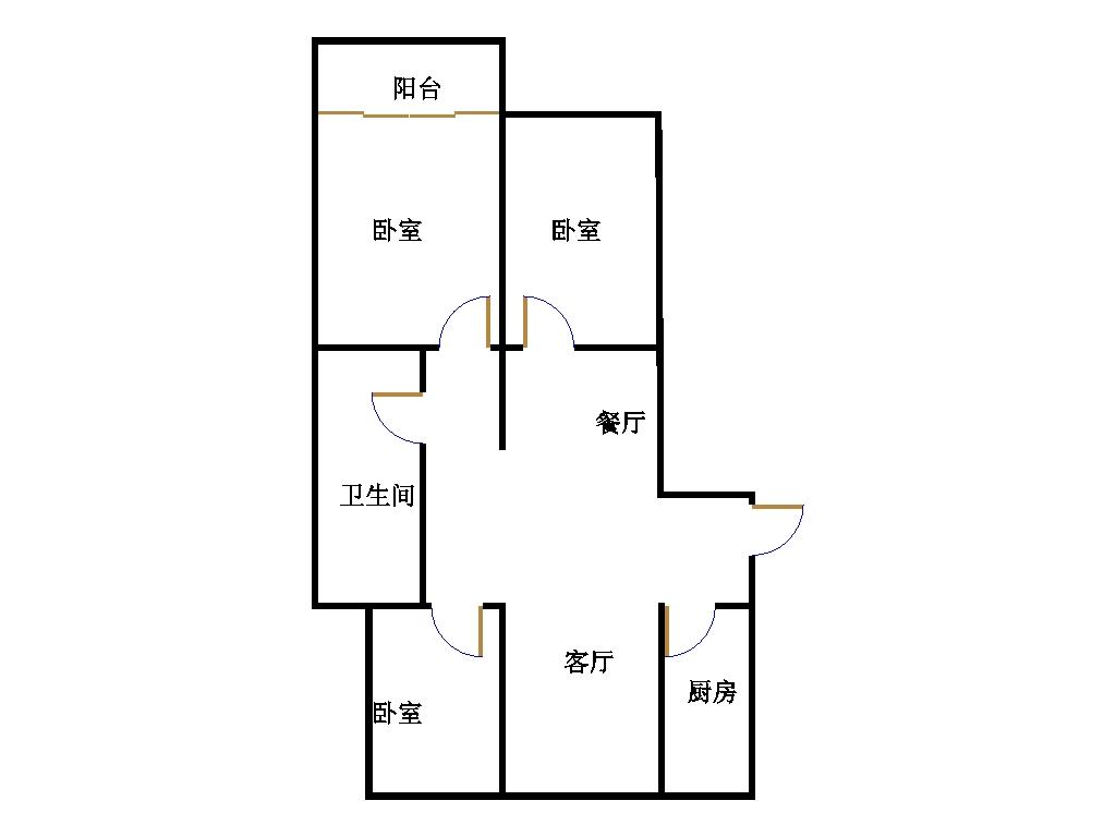 双馨苑 3室2厅 9楼