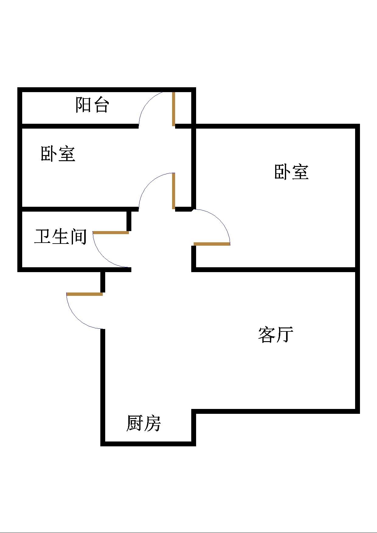 嘉诚景园小区 2室1厅 3楼