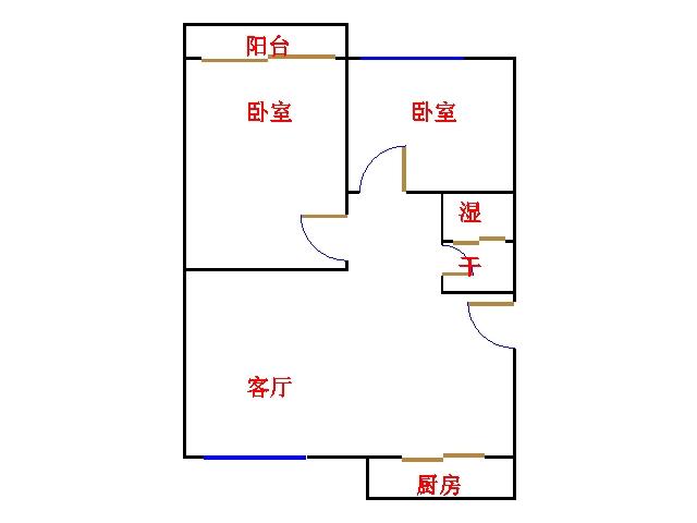 滨海首府 2室1厅  精装 86万