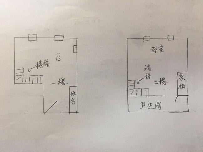 唐人D区(公寓)LOFT 2室1厅  毛坯 43万