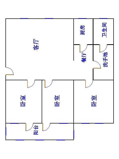 湘江小区南区 3室2厅 4楼