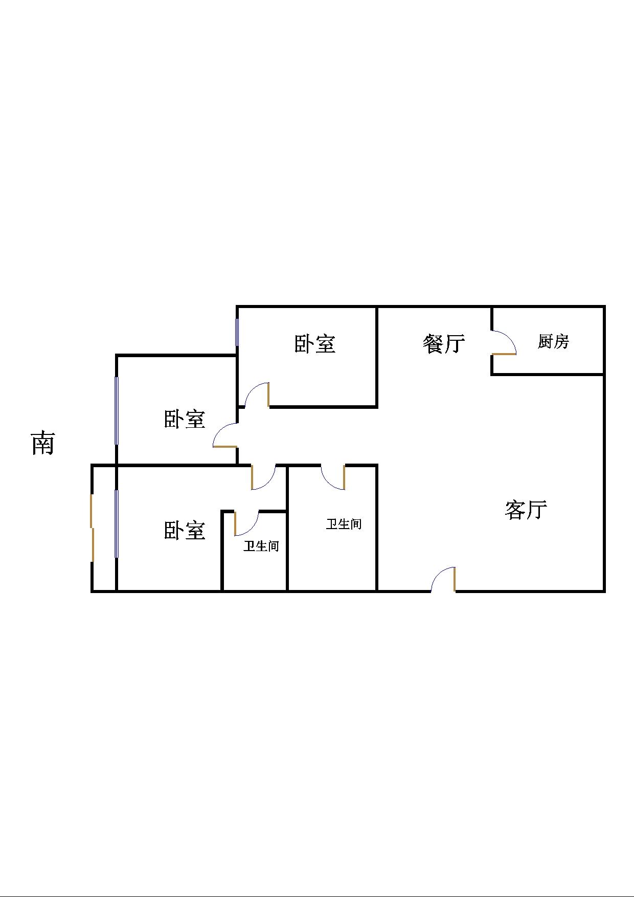 金地华城 3室2厅 过五年 精装 135万