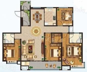 明城雅居 4室2厅 5楼