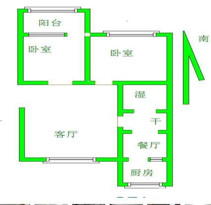 文化小区 2室1厅 双证齐全 简装 170万