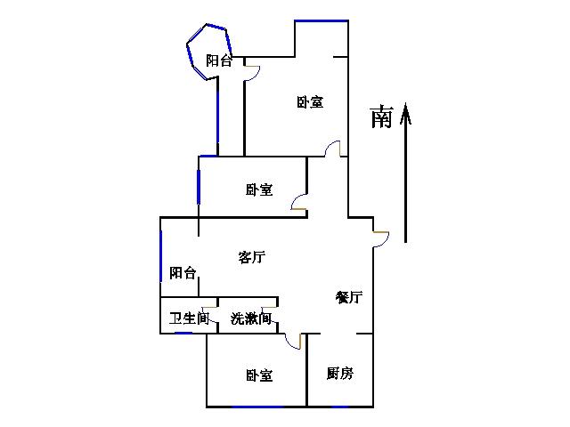 东海香港城 3室2厅  毛坯 210万