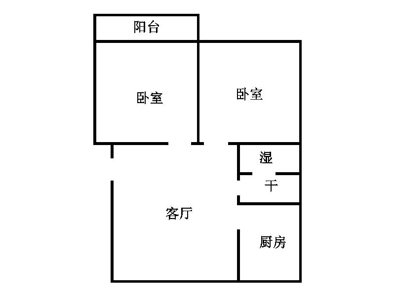 西长新村 2室1厅 1楼