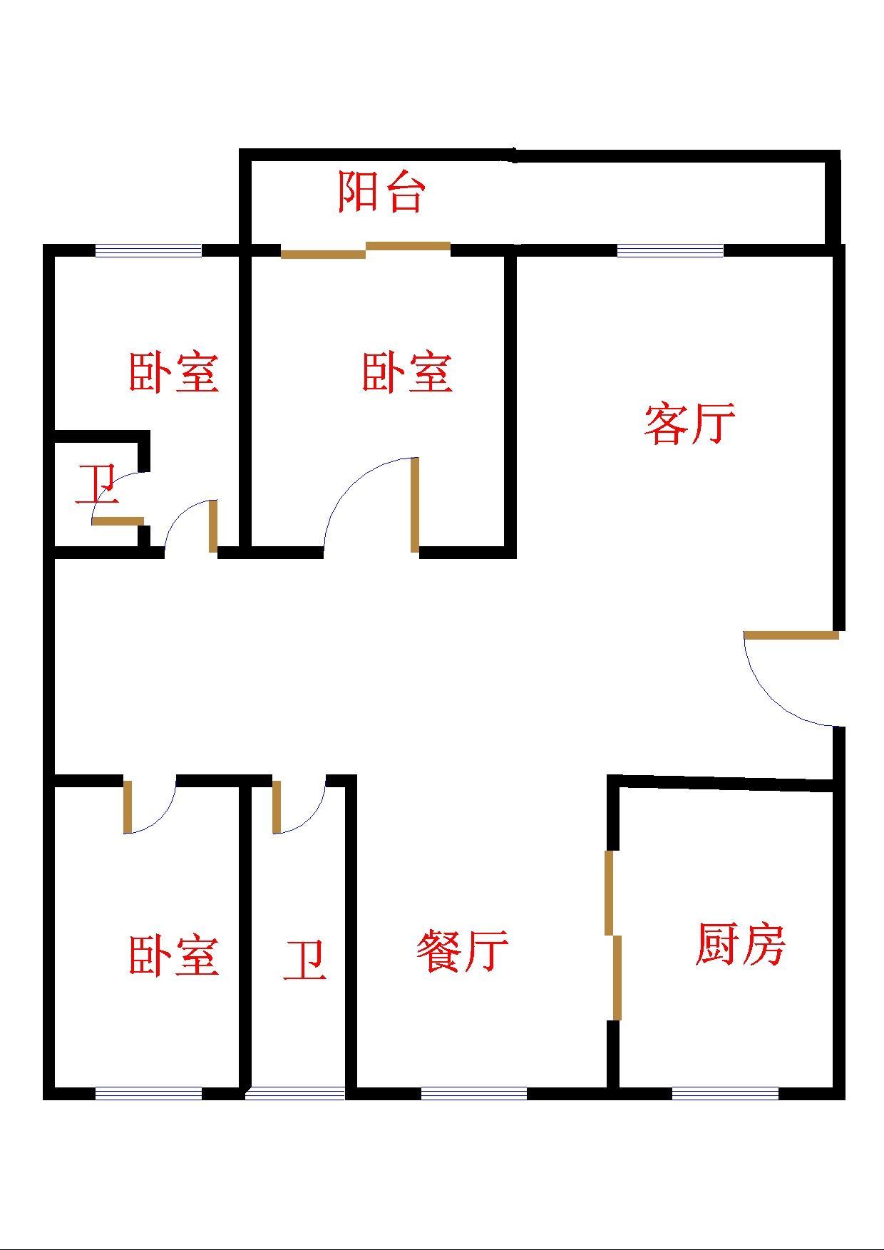 嘉城盛世 3室2厅  毛坯 190万