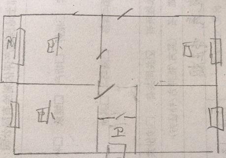 十三局宿舍东区 2室1厅  简装 47万