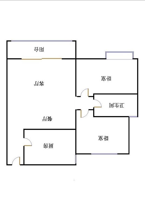 唐人中心 2室2厅  精装 110万