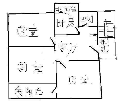 邹李小区 3室1厅  简装 52万