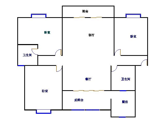 新城市花园小区 3室2厅 双证齐全过五年 精装 165万
