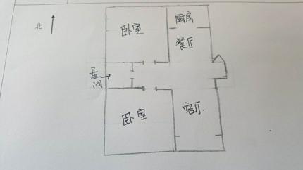 岔河紫薇园 2室2厅 过五年 精装 150万