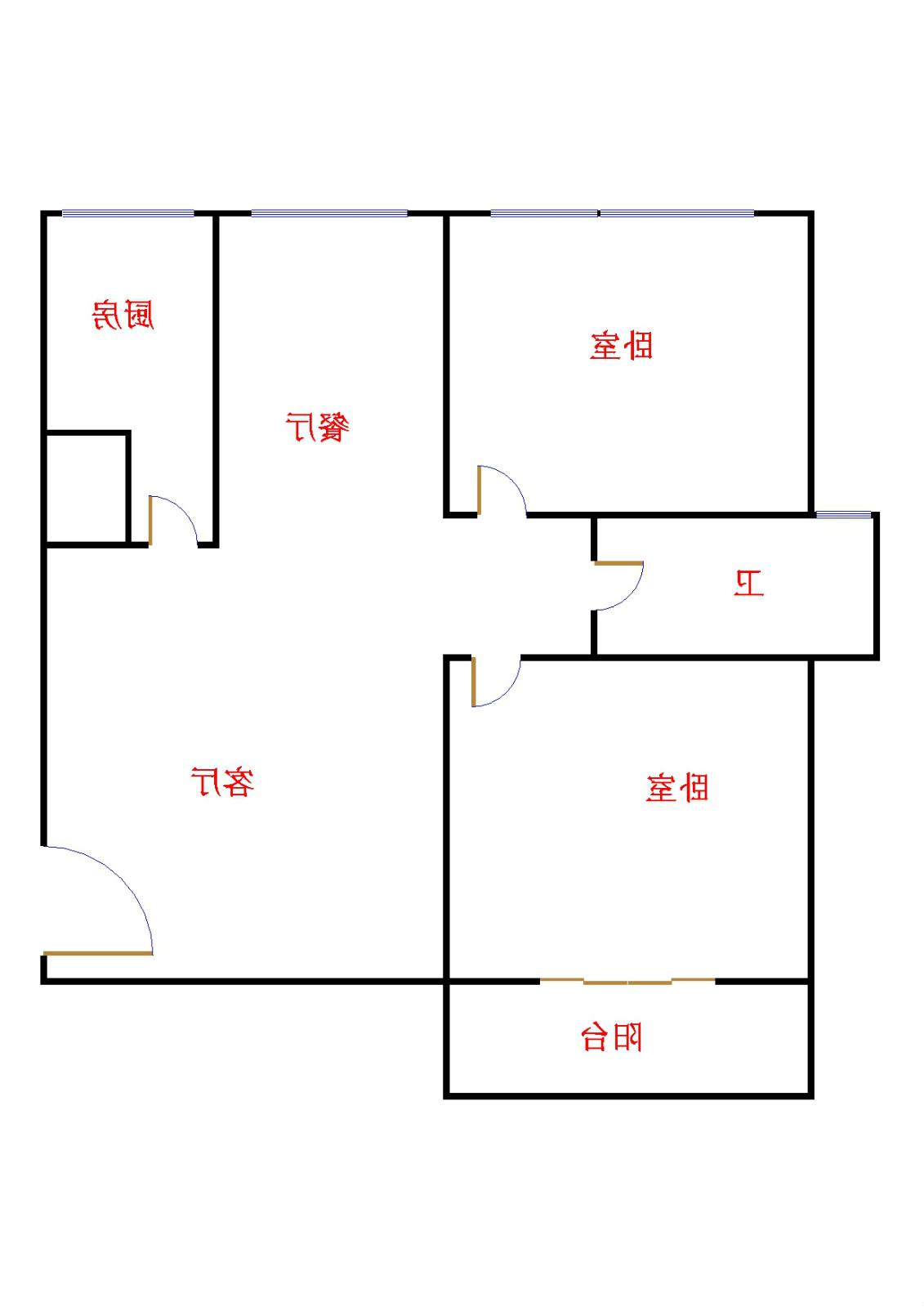 十三局宿舍东区 2室2厅 4楼