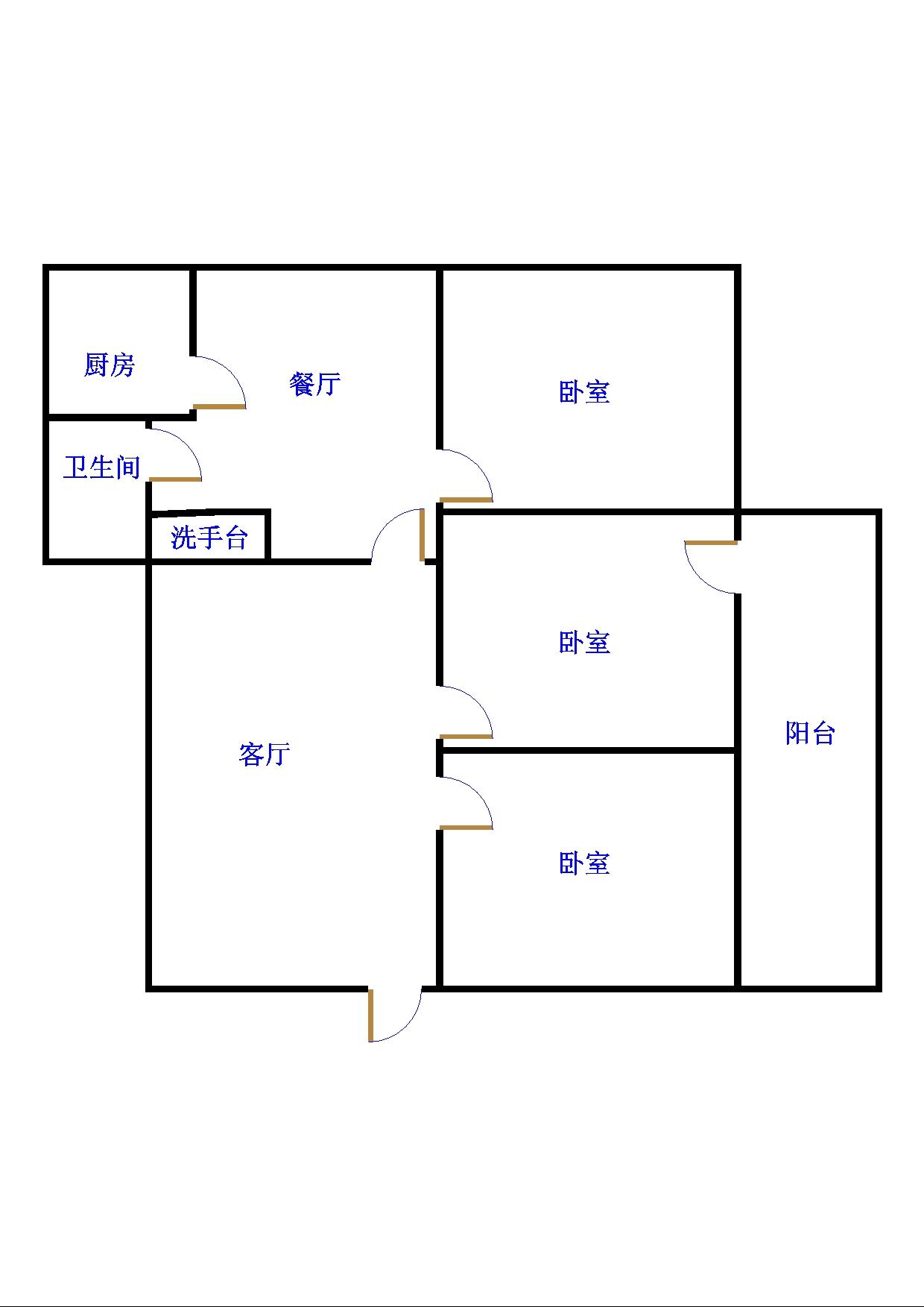 贵和家园 3室2厅 双证齐全过五年 简装 118万