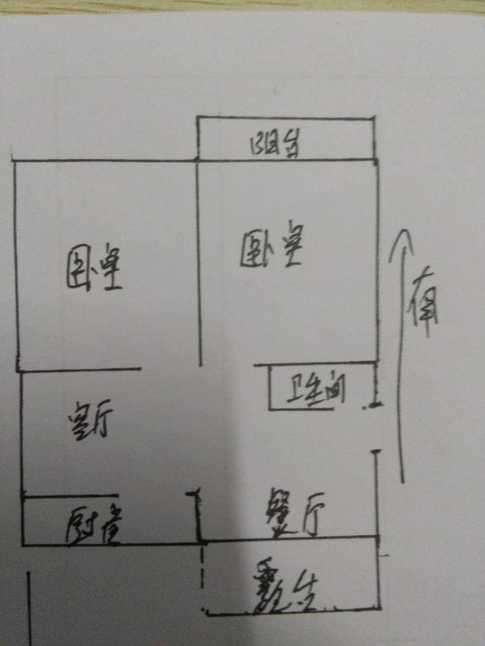 华宇国际公寓 2室2厅 双证齐全 简装 48万