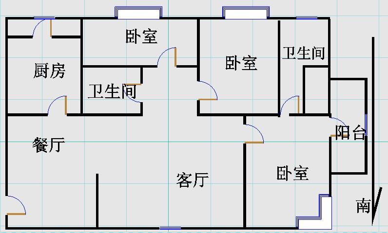 帝景苑小区 3室2厅 双证齐全 简装 168万